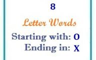 Eight letter words starting with O and ending in X
