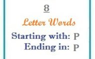 Eight letter words starting with P and ending in P