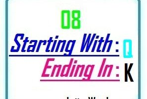Eight letter words starting with Q and ending in K