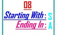 Eight letter words starting with S and ending in A