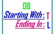 Eight letter words starting with T and ending in L