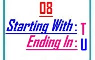 Eight letter words starting with T and ending in U