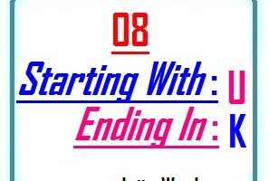 Eight letter words starting with U and ending in K