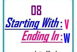 Eight letter words starting with V and ending in W