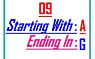 Nine letter words starting with A and ending in G