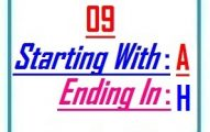 Nine letter words starting with A and ending in H