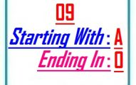 Nine letter words starting with A and ending in O