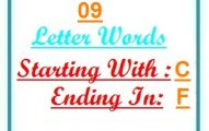 Nine letter words starting with C and ending in F