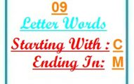 Nine letter words starting with C and ending in M