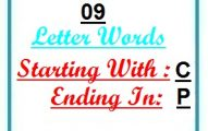 Nine letter words starting with C and ending in P