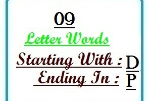 Nine letter words starting with D and ending in P