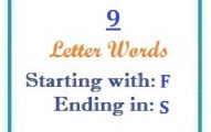 Nine letter words starting with F and ending in S