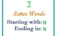Seven letter words starting with H and ending in N