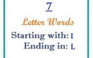 Seven letter words starting with I and ending in L