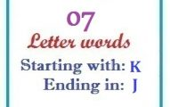Seven letter words starting with K and ending in J