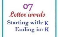 Seven letter words starting with K and ending in K