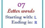 Seven letter words starting with L and ending in R