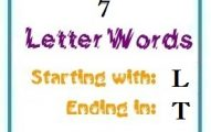 Seven letter words starting with L and ending in T