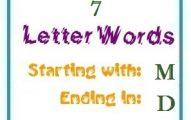 Seven letter words starting with M and ending in D