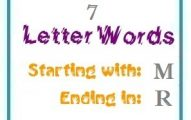 Seven letter words starting with M and ending in R