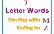 Seven letter words starting with M and ending in Z