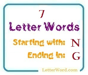 Seven Letter Words Starting With N And Ending In G