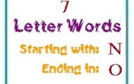 Seven letter words starting with N and ending in O