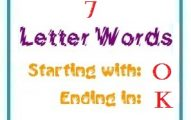 Seven letter words starting with O and ending in K
