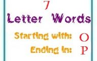 Seven letter words starting with O and ending in P