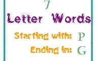 Seven letter words starting with P and ending in G