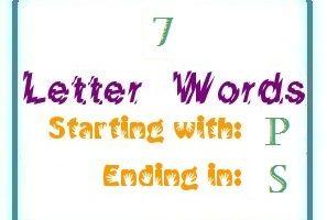 7 Letter Words Ending In S Letterword Com