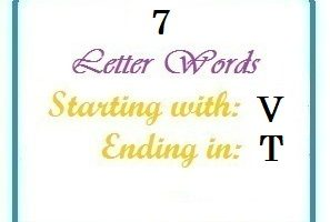 Seven letter words starting with V and ending in T