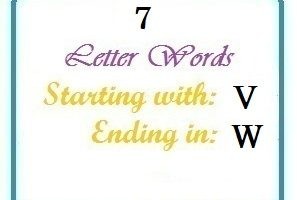 Seven letter words starting with V and ending in W
