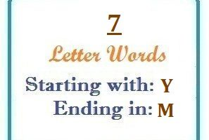 Seven letter words starting with Y and ending in M