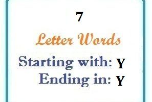 Seven letter words starting with Y and ending in Y | Letters in