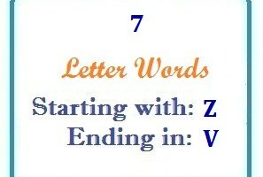 Seven letter words starting with Z and ending in V