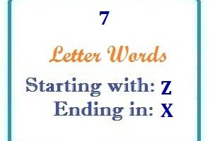 Seven letter words starting with Z and ending in X