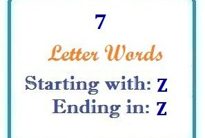 Seven letter words starting with Z and ending in Z