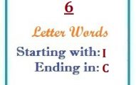 Six letter words starting with I and ending in C