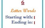 Six letter words starting with I and ending in I
