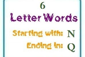 words starting with N and ending in Q | Letters in Word