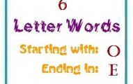 Six letter words starting with O and ending in E