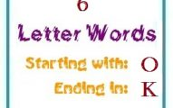 Six letter words starting with O and ending in K