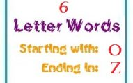 Six letter words starting with O and ending in Z