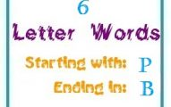 Six letter words starting with P and ending in B