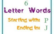 Six letter words starting with P and ending in J