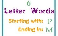 Six letter words starting with P and ending in M