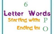 Six letter words starting with P and ending in O
