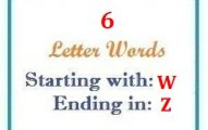 Six letter words starting with W and ending in Z