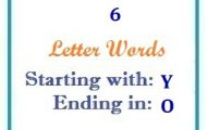 Six letter words starting with Y and ending in O